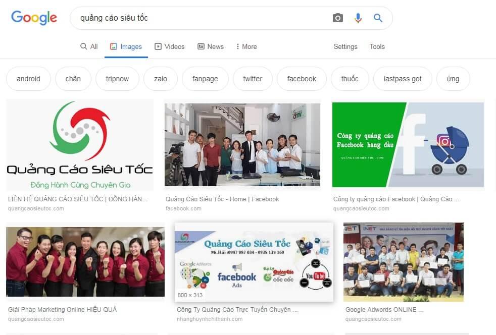 Thumbnail trên Google Search là gì