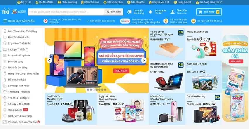Thumbnail được sử dụng trên các website thương mại điện tử hàng đầu