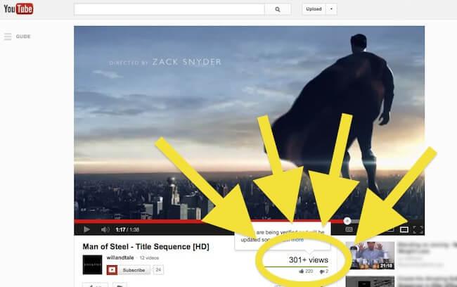 Lượt view Youtube thường bị đóng băng ở mốc 300 view