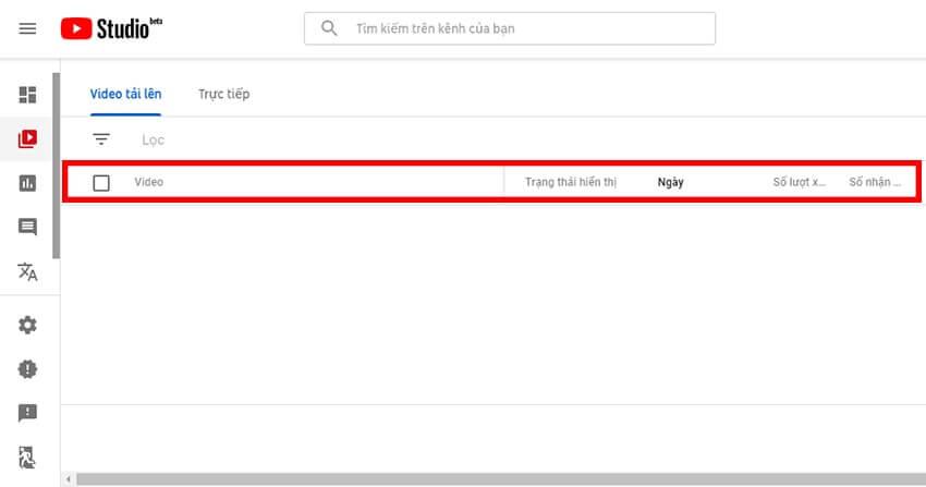 Youtube analytics thống kê cụ thể số lượt view trên từng video