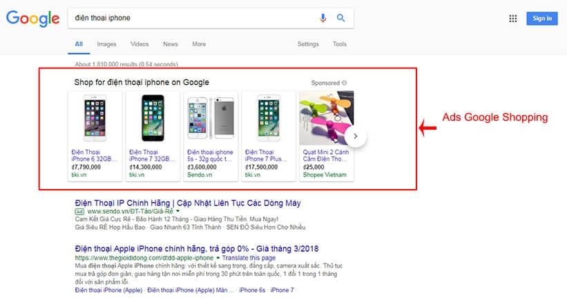 tối ưu google shopping