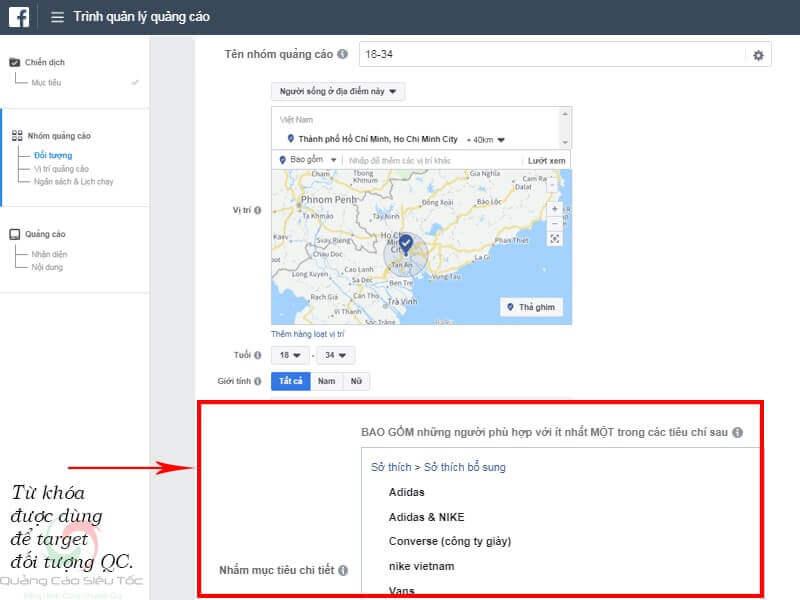 Sử dụng từ khóa để target quảng cáo Facebook hiệu quả
