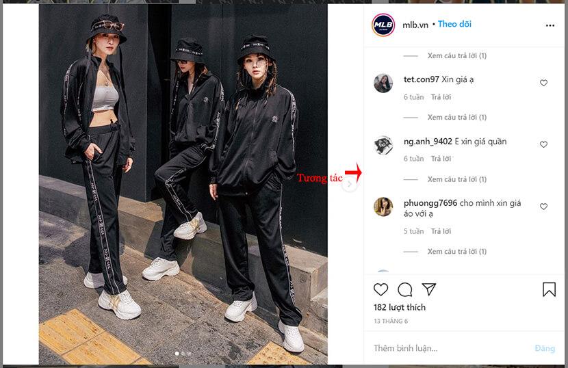 tương tác instagram marketing