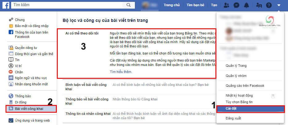 Cách bật chế độ theo dõi trên Facebook cá nhân