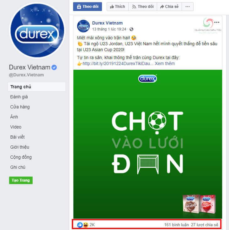 Kiểu nội dung hài hước độc đáo của Durex Việt Nam