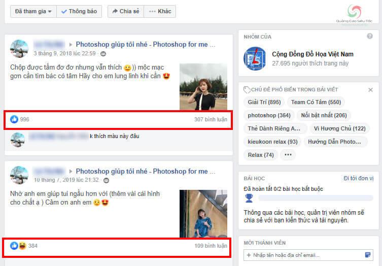 Đăng bài nhờ vả trong Group giúp tăng tương tác Facebook hiệu quả