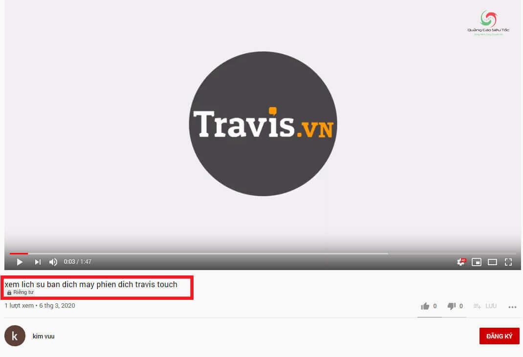 Xem video riêng tư trên Youtube thành công