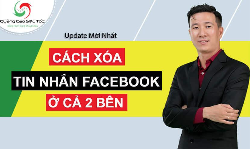 Cách xóa tin nhắn trên Fanpage và Facebook cá nhân
