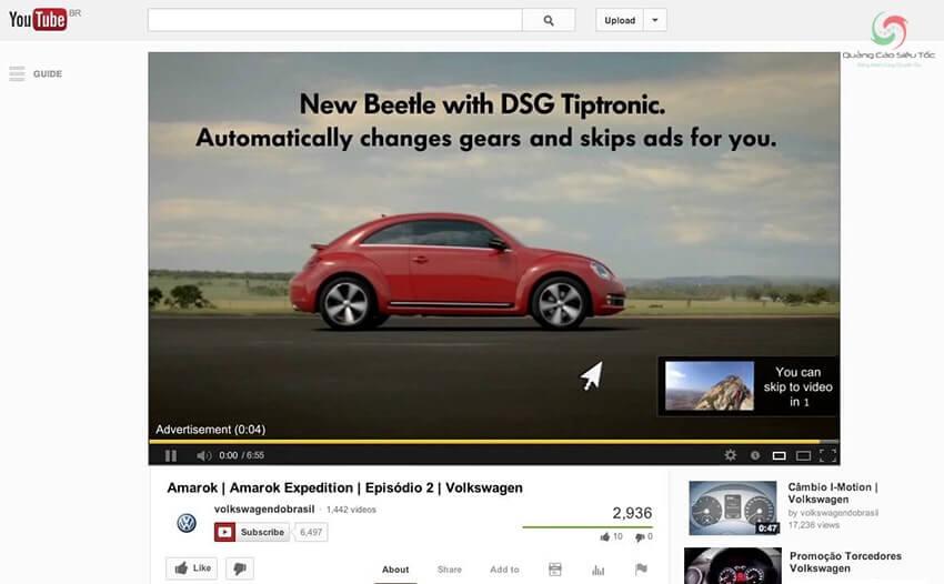 Minh họa quảng cáo Youtube là gì