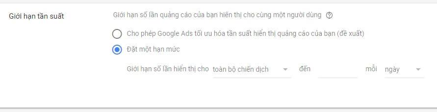 Tần suất hiển thị quảng cáo Google