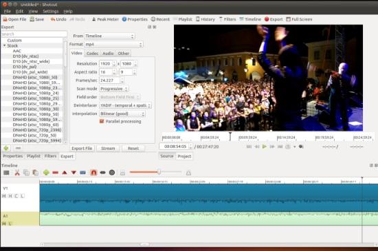 App chỉnh sửa video Shotcut có hỗ trợ hiệu ứng khá ấn tượng