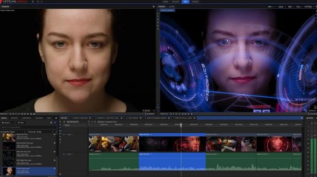 App chỉnh sửa video Hitfilm có hỗ trợ tạo video 3D