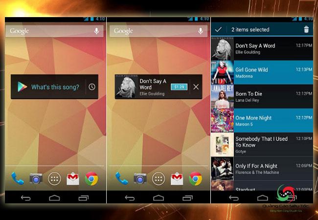 App tìm nhạc Sound Search