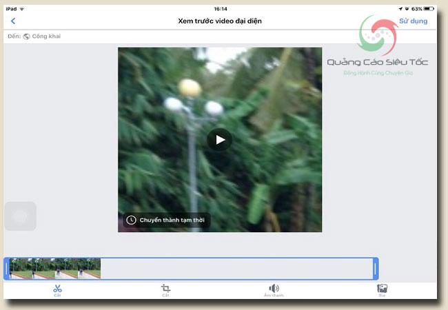 Cài Avatar Video Facebook dễ dàng nhất