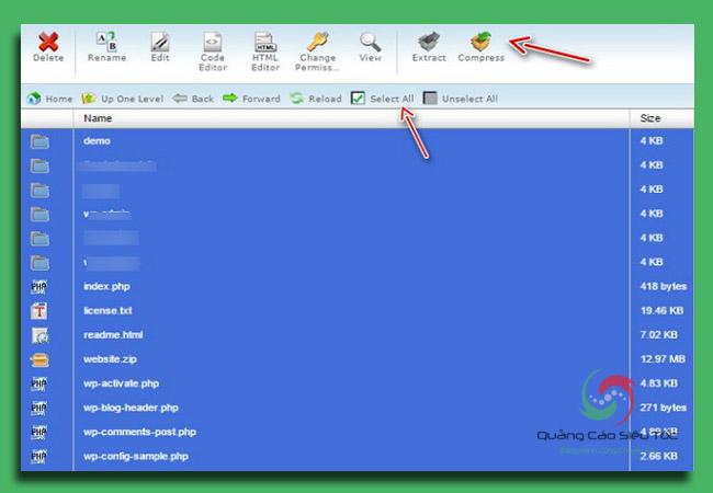 cách backup wordpress với giao diện Cpanel VPS