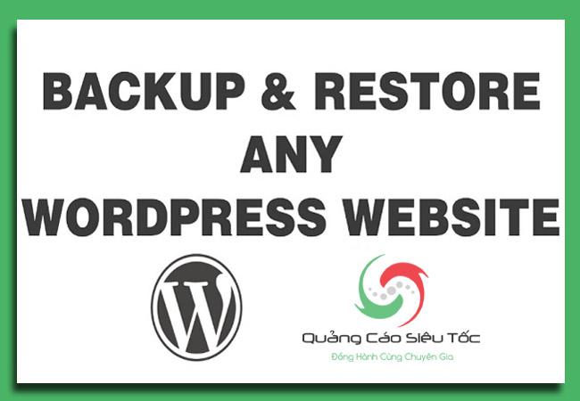 cách backup wordpress đơn giản nhất
