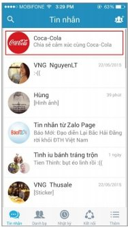 Quảng cáo Sticky Messages