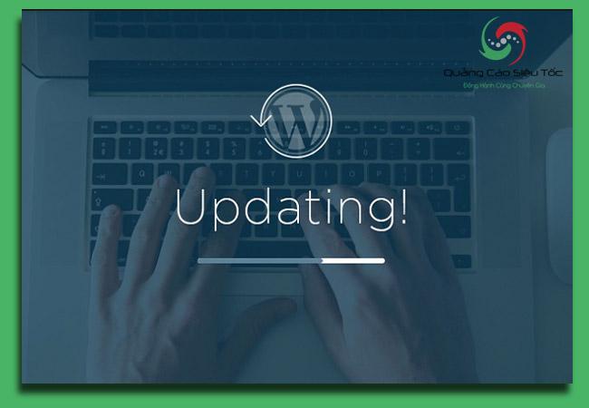 bảo mật wordpress bằng cách cập nhật nền tảng thường xuyên