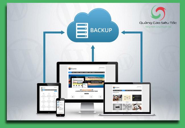 bảo mật wordpress bằng cách sao lưu dữ liệu