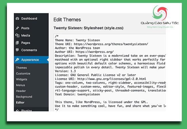 bảo mật wordpress bằng cách hạn chế quyền chỉnh sửa code trên trang quản trị