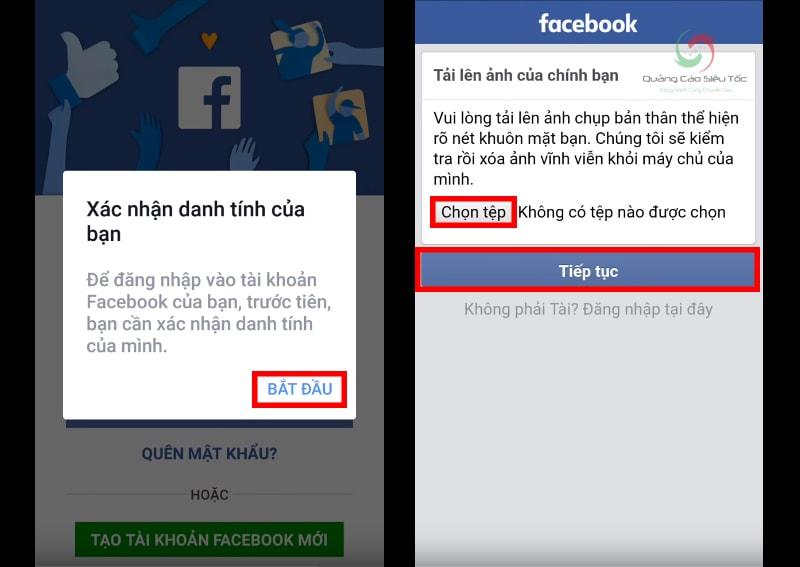 Xác minh tài khoản Facebook bị vô hiệu hóa bằng ảnh chính bạn