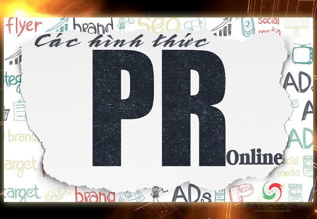 Các hình thức Pr online hiệu quả nhất hiện nay