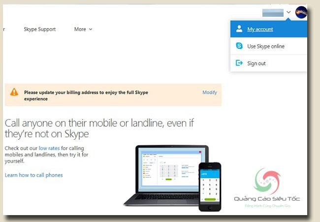 cách đổi tên skype trên website