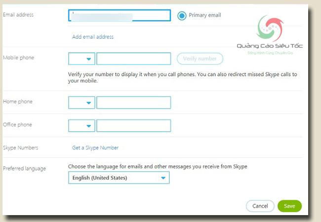 cách đổi tên skype và email liên kết tài khoản