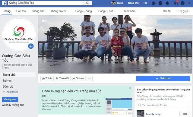 cách tạo và quản lý fanpage trên facebook