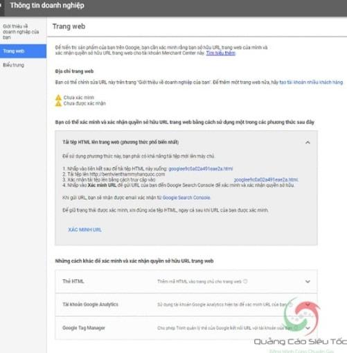 cách liên kết tài khoản merchant với adwords