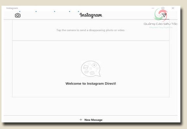 cách nhắn tin trên instagram bằng máy tính window 10