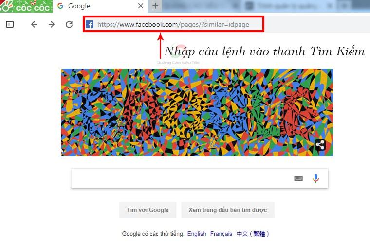 Thao tác thực hiện chung cho toàn bộ câu lệnh tìm kiếm bằng Facebook graph search