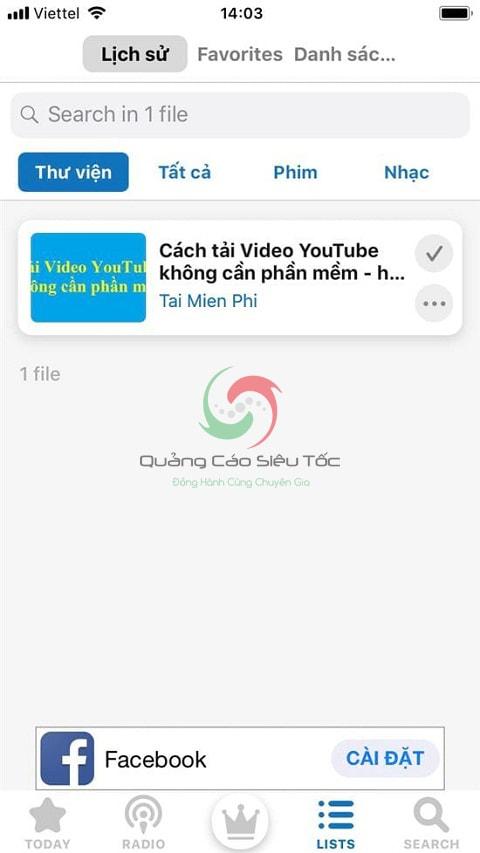 Cách tải nhạc trên Youtube về điện thoại iphone