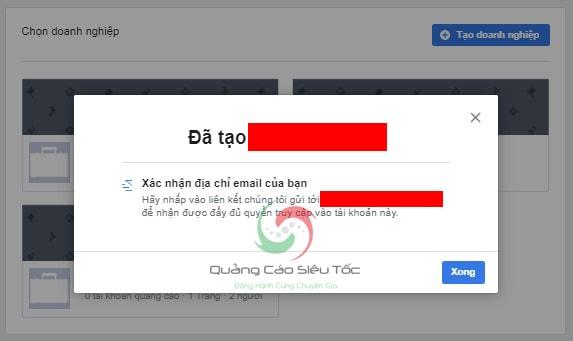 tạo tài khoản facebook business