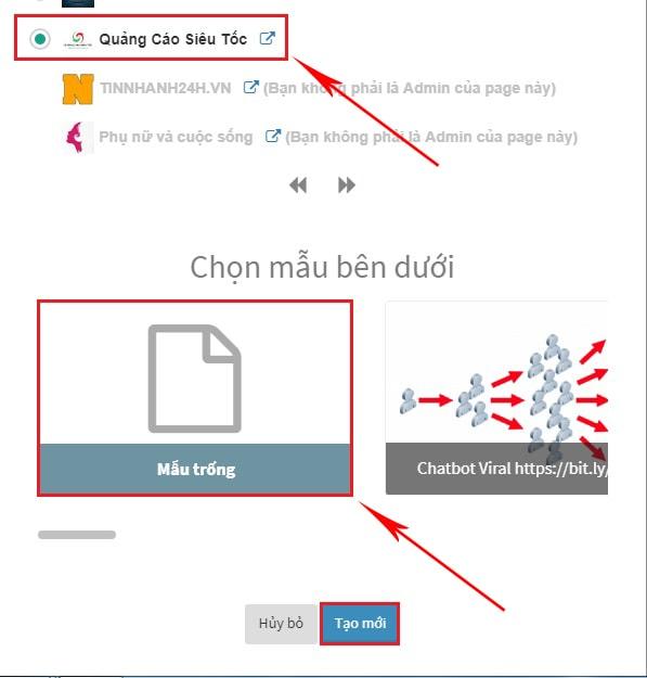 tạo chatbot cho fanpage miễn phí