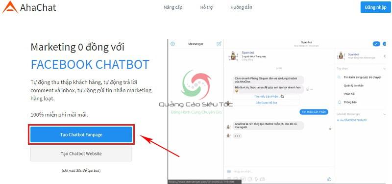 cách tạo chatbot