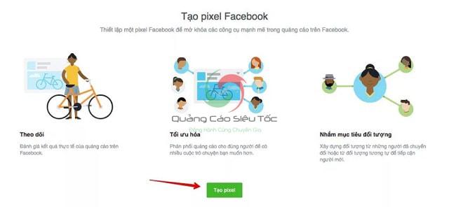 Tạo pixel Facebook Code từ trình quản lý quảng cáo