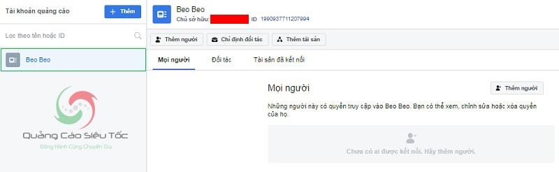 tài khoản quảng cáo facebook Business