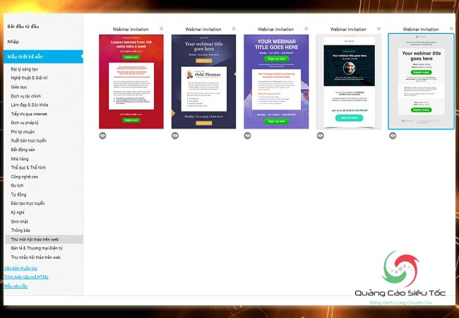 Cách tạo webinar trên Getresponse và thiết kế mẫu thiệp mời miễn phí