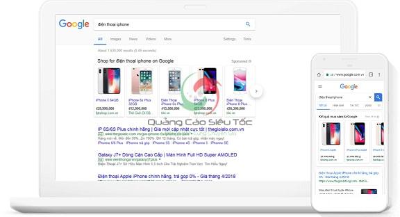 quảng cáo google shopping hiệu quả