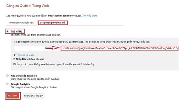 Hướng Dẫn Cách Cài Đặt Google Webmaster Tool