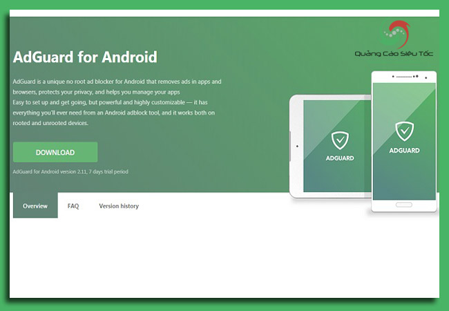 chặn quảng cáo ứng dụng trên android