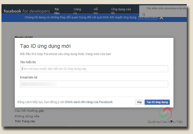 chèn comment facebook vào wordpress bằng Facebook App
