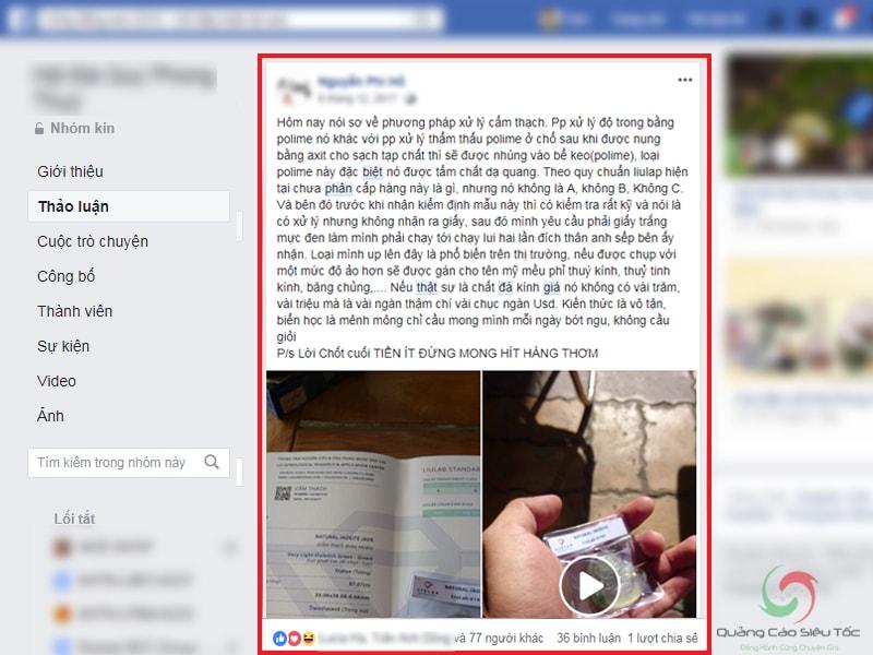 Chia sẻ kiến thức hữu ích trong các group facebook