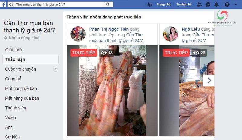 Live stream trực tiếp trong các Group bán hàng trên Facebook