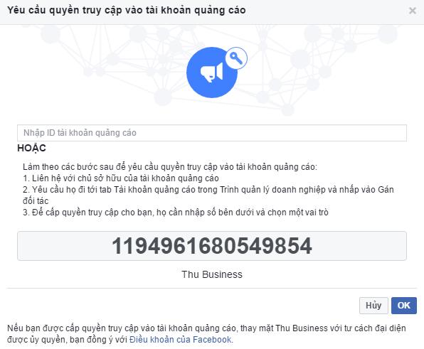 Cho Thuê Tài Khoản Quảng Cáo Facebook