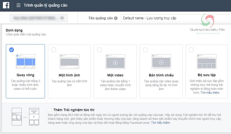 Chọn định dạng quảng cáo được hiển thị cho người dùng