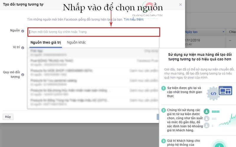 Chọn nguồn trước khi khởi tạo đối tượng tương tự facebook