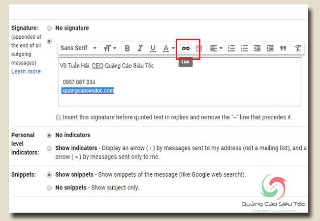 chữ ký email chuyên nghiệp bao gồm những yếu tố nào