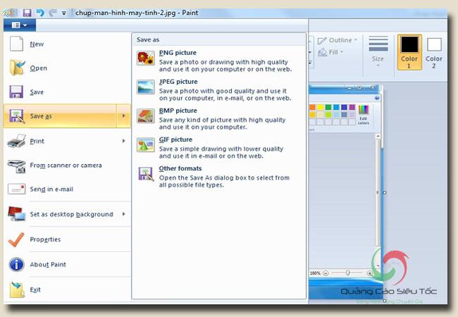 Cách chụp màn hình máy tính và lưu lại dưới định dạng tùy ý